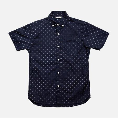 3Sixteen Button-Down Short-Sleeve Shirt - Navy Floral