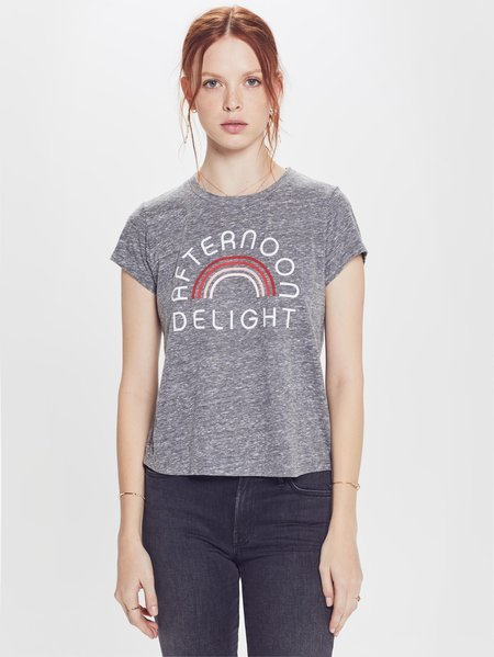 b233598dd2d ... Mother Denim The Boxy Goodie Goodie Afternoon Delight Tee - HEATHER GREY