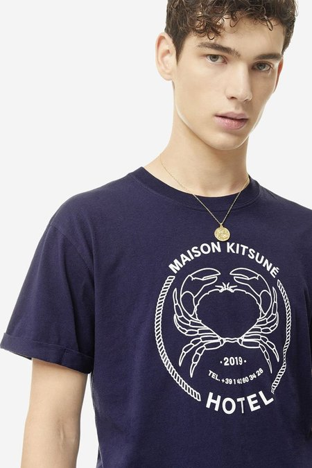 Kitsune Hotel Tee-Shirt - Navy