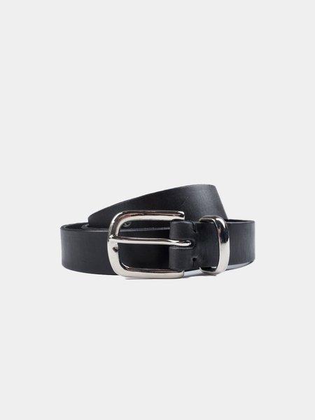 Oliver Spencer Coniston Leather Belt - Black