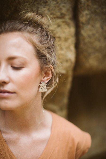Avery Lee Trio Earrings - Silver