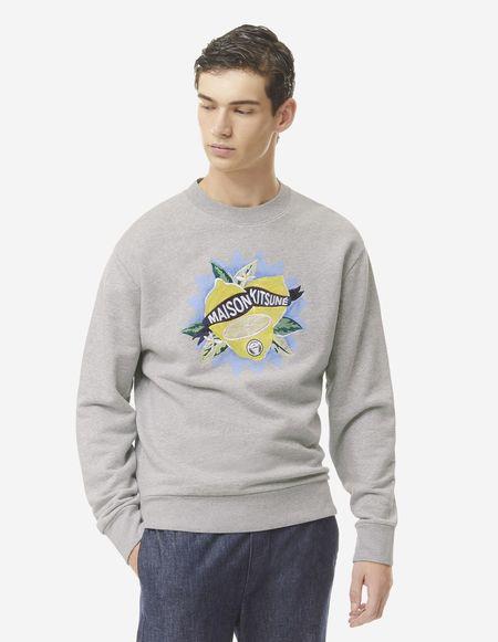 Kitsune Limone Sweatshirt - Grey Melange
