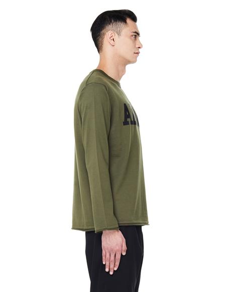 Junya Watanabe Army Print Cotton Sweater - Khaki