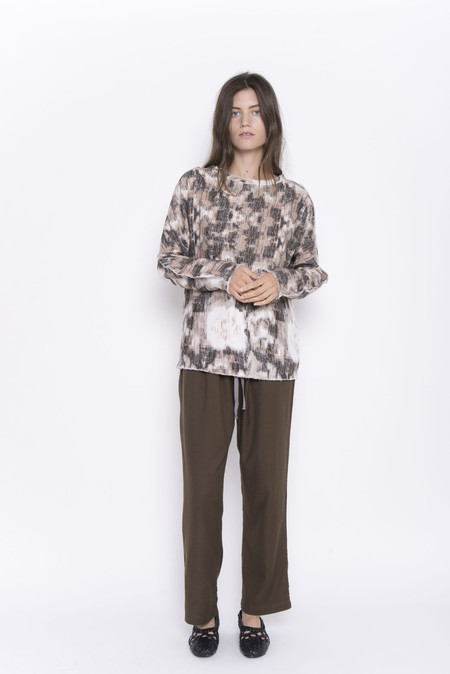 Namche Bazaar Abstract Floral Ikat Top