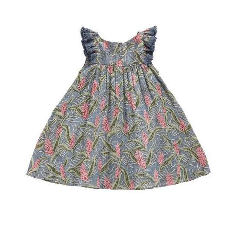 KIDS Louise Misha Costa Dress - Lagoon Leaves