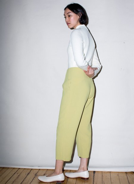 KAAREM Sua Tapered Trouser Pocket Pant - Avocado