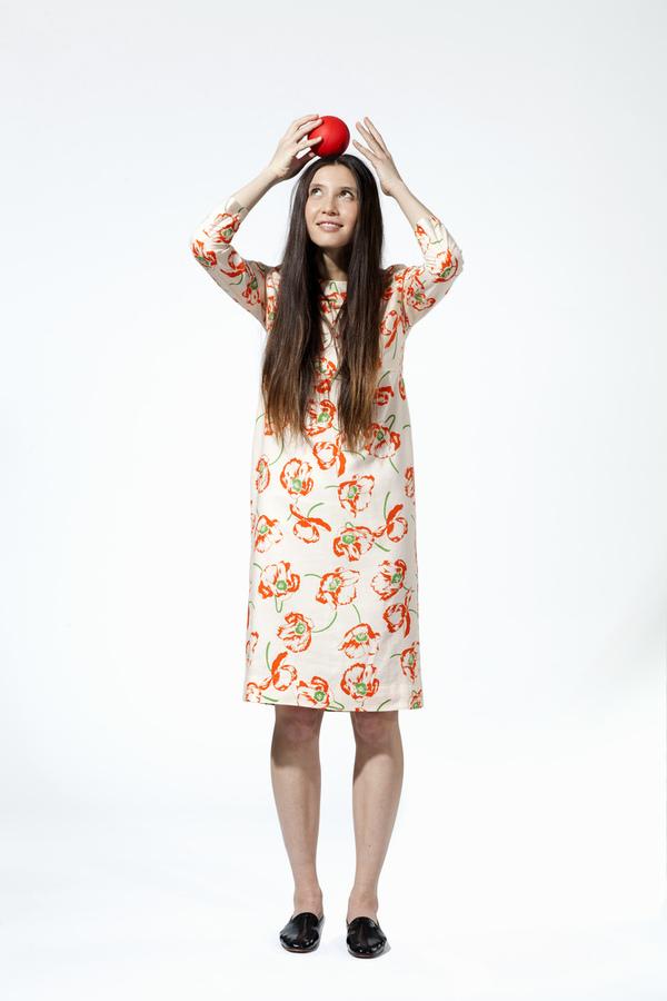 Carleen California Midi Dress - Light Poppy