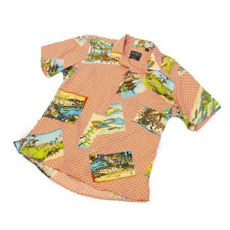 Gitman Bros Gitman Vintage Hokusai Camp Shirt - Orange