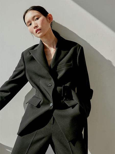 38comeoncommon Belted Single Jacket - Black