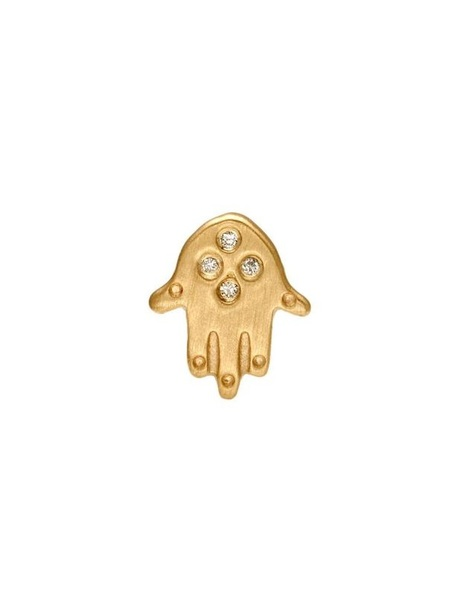 Bianca Pratt Hamsa Diamond Earring - Gold