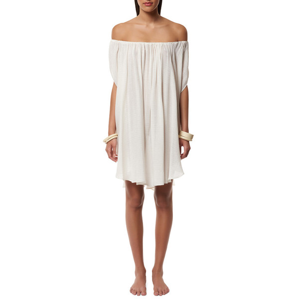 Mara Hoffman OFF-THE-SHOULDER CAFTAN