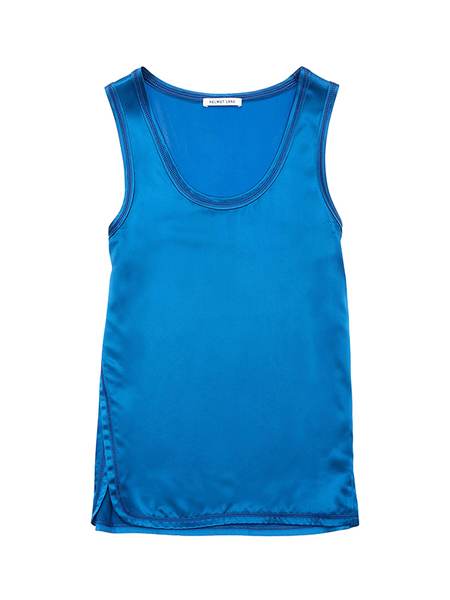 Helmut Lang Fluid Viscose Sleeveless Top - Lagoon