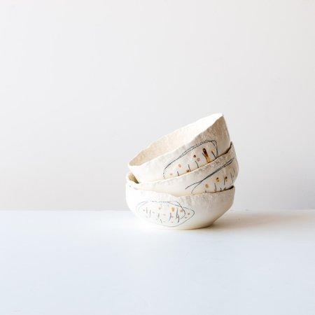 Isabelle Simard Porcelain Bowls - White/Black (Set of 3)