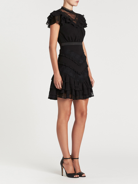 THREE FLOOR Short 'n' Schiffer Dress - black