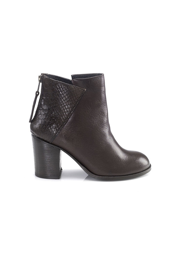 Artemisia Kate Brown Leather Ankle Boots