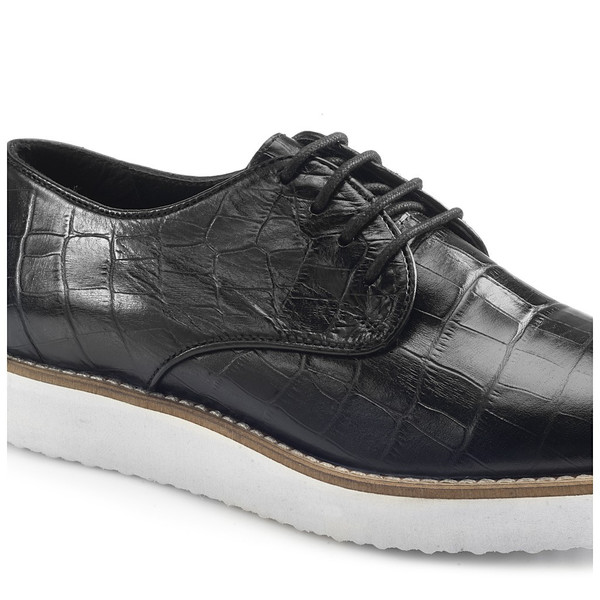 Artemisia Lilith Black Leather Brogues