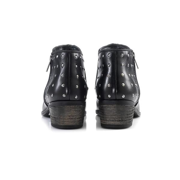 Artemisia Luna Black Leather Ankle Boots