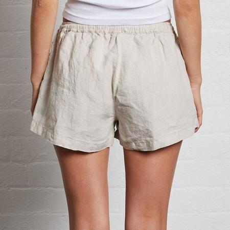 In Bed Linen Shorts - Dove Grey