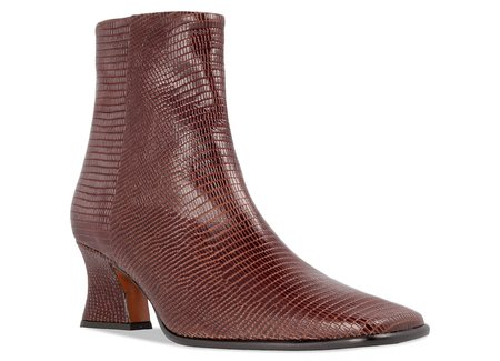 BY FAR Naomi Lizard Embossed Leather boot - Brown
