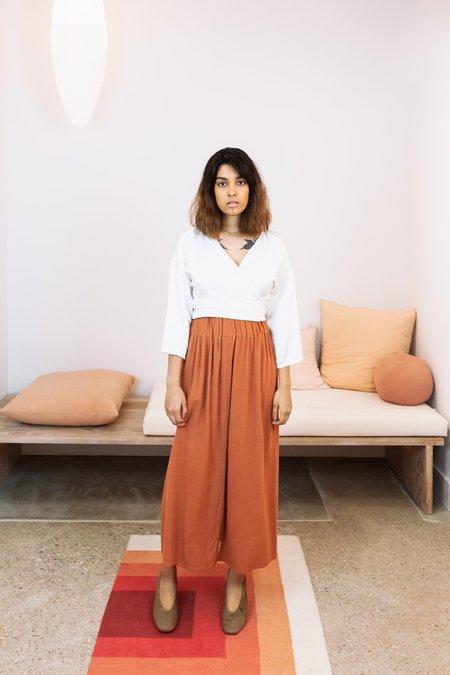 Miranda Bennett Rayon Paper Bag Skirt - Abilene