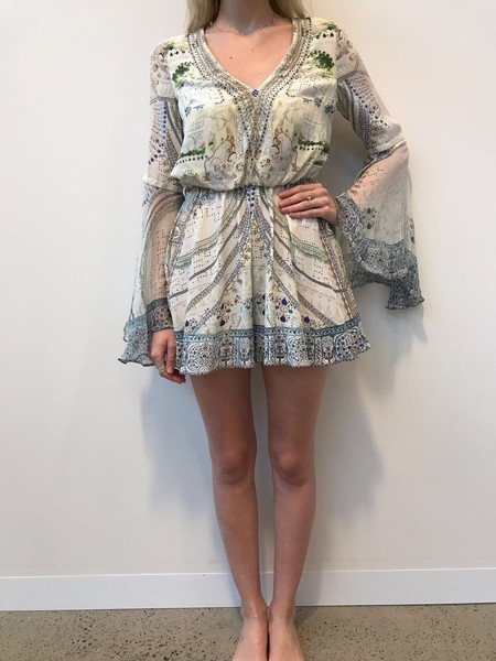 CAMILLA Wide Sleeve Playsuit