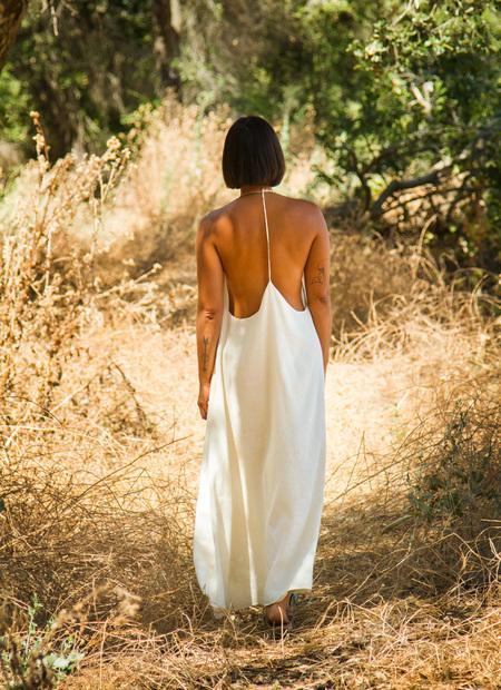 Petit Mioche voile dress - natural