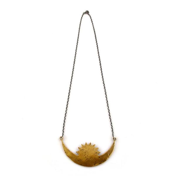 Laurel Hill Rising Crescent Necklace