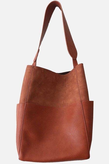 SL Contrast Tote - brown