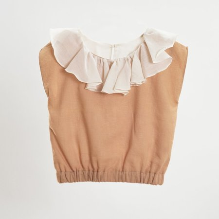KIDS Petit Mioche reversible ruffle blouse - bicolore