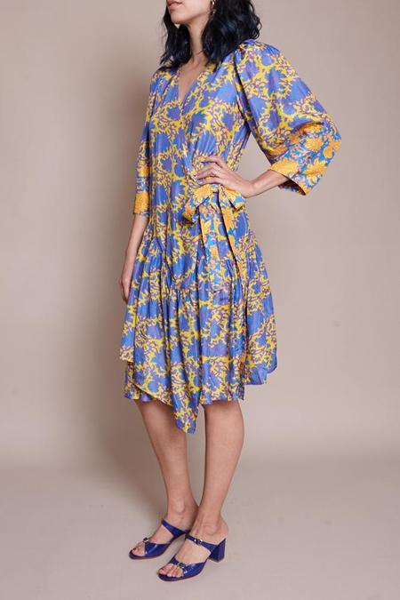 Apiece Apart Short Bouganvillea Meru Sleeve Dress - Lucia Floral Sun