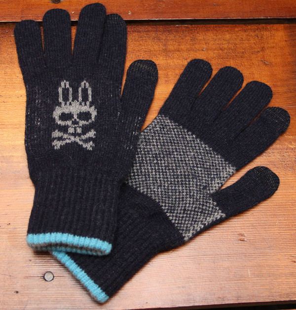 Men's Psycho Bunny  Gloves - Navy