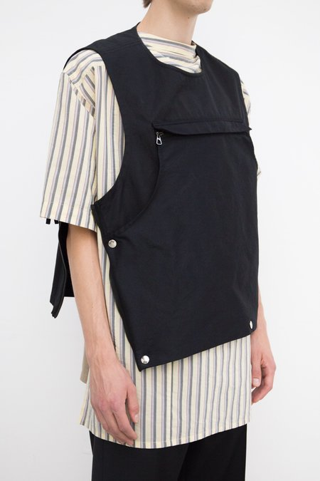 Lanvin Military Twill Cotton Pockets Gilet - Black