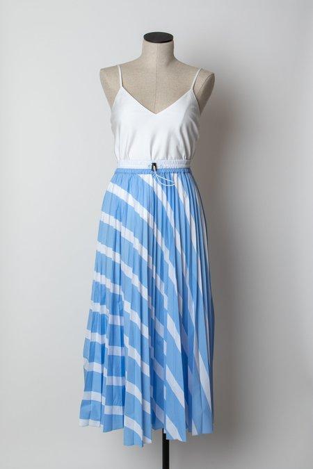 Hache Pleated Skirt - Stripe