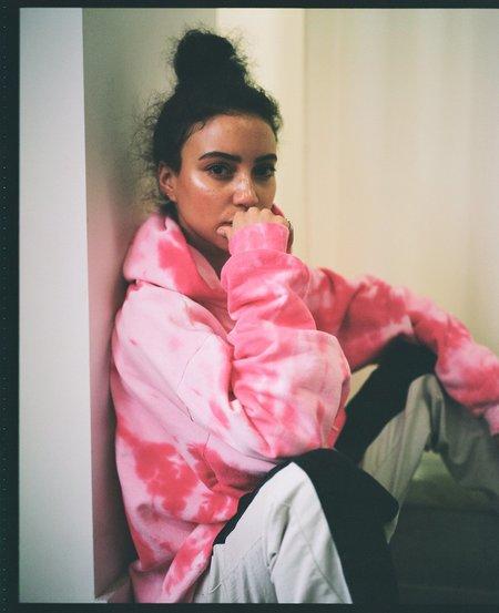 Sincerely, Tommy Treta Hoodie - Pink Tie Dye