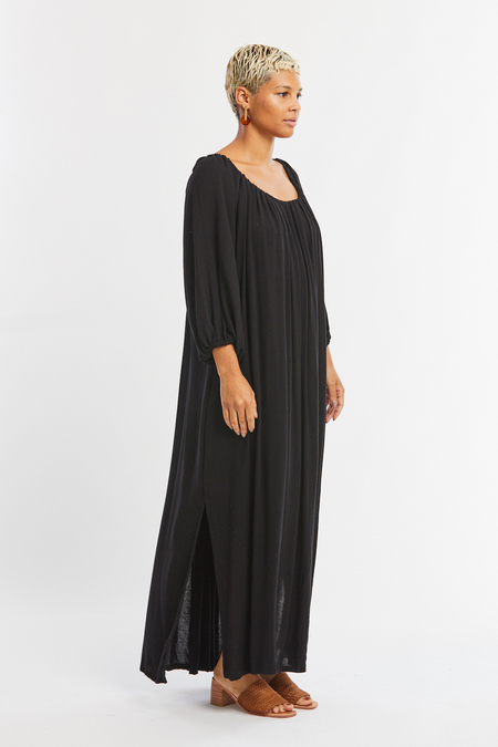 Miranda Bennett Cassatt Dress in Black Rayon