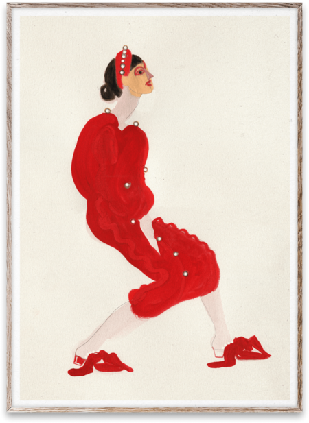 Paper Collective Red with Pearls by Amelie Hegardt