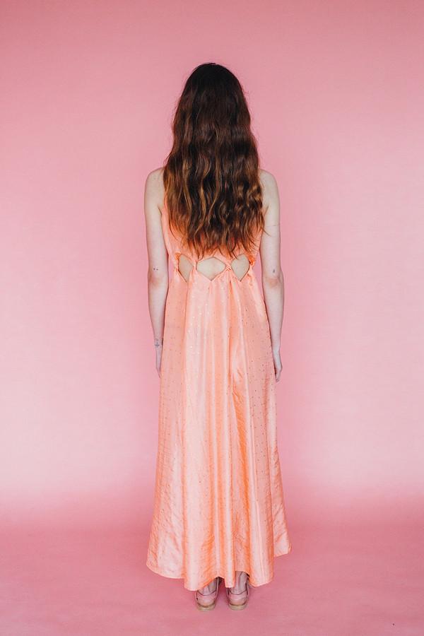 Samantha Pleet Tabernacle Dress - Peach