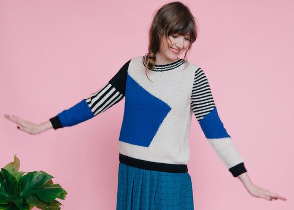 Dusen Dusen Blue Landscape Sweater