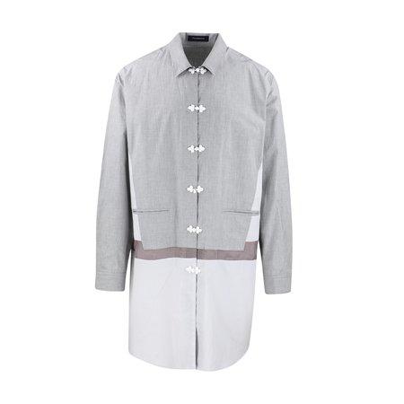 JohnUNDERCOVER Contrast Panel Long Shirt - Top Grey