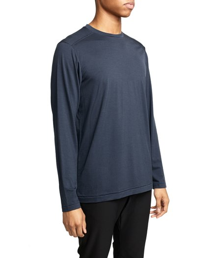 Wolves Long Sleeve Top - Midnight Blue