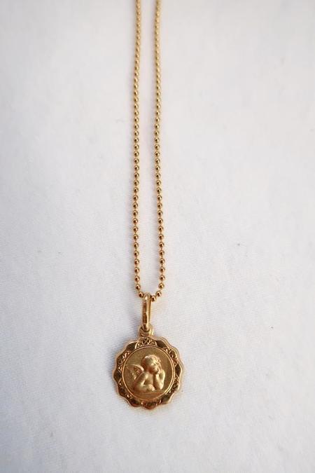 Above Average Studio Cherub Pendant Necklace - Gold