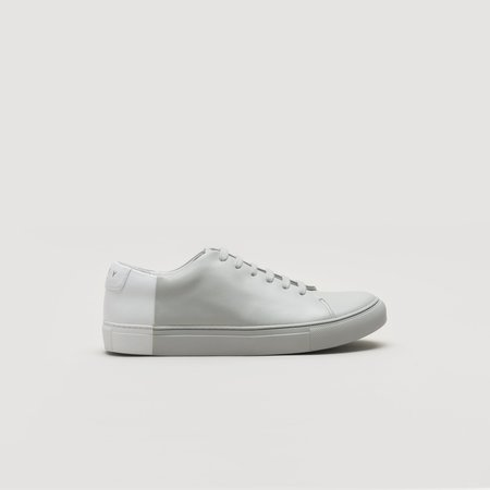 THEY Two-Tone Low Sneaker - Grey/White