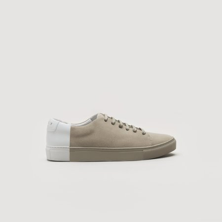 THEY Two-Tone Low Suede - Camel/White