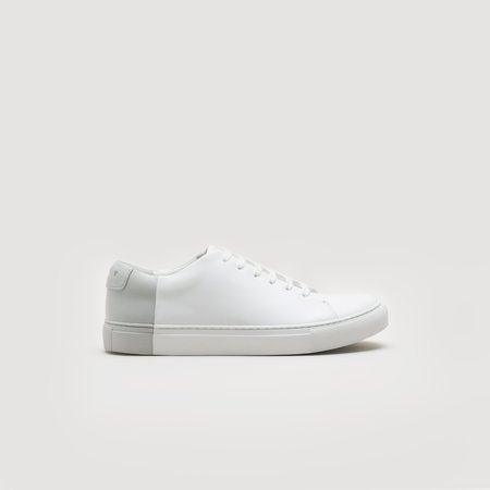 THEY Two-Tone Low Sneaker - White/Grey
