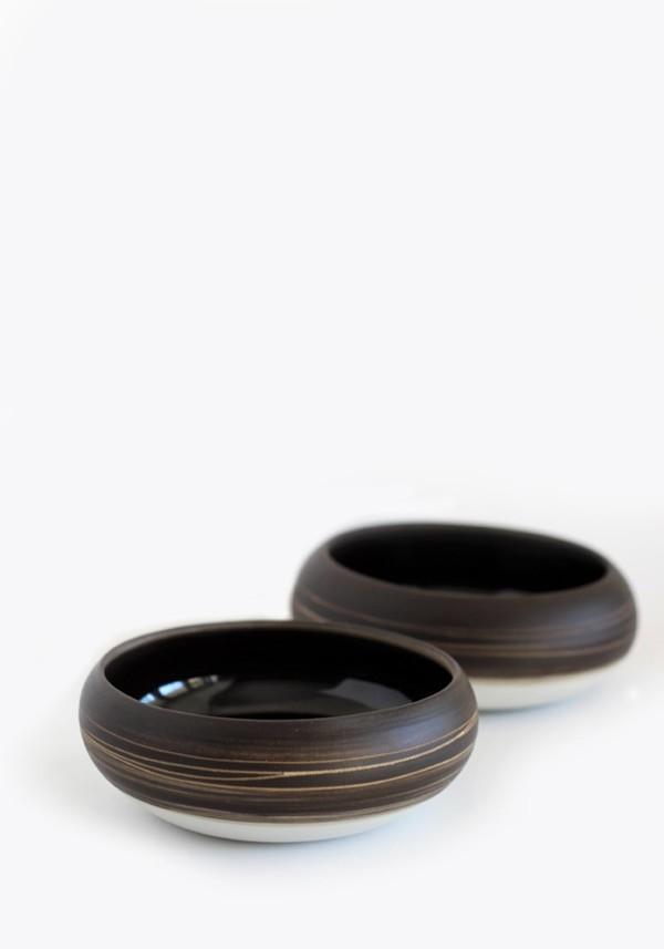 Studio Joo Porcelain Shallow Pouch Bowl