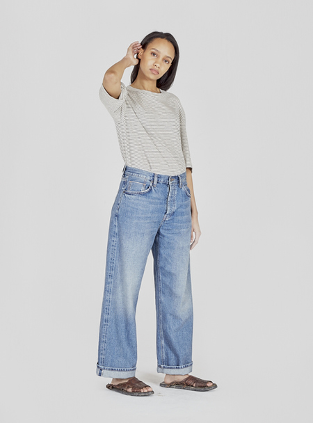 I AND ME Selvedge Wide Legs Jeans - Mid Vintage