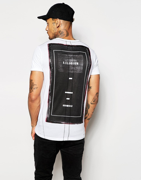 Men's Religion Into Black T-Shirt