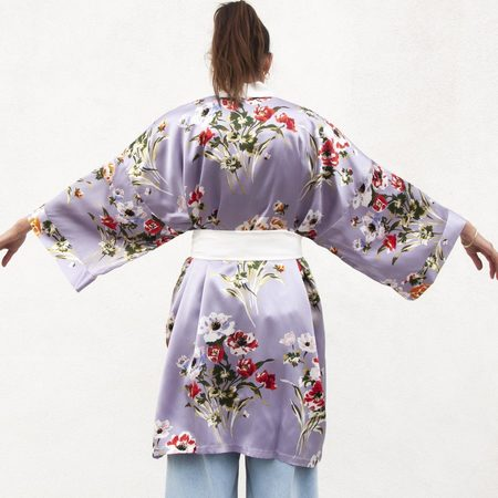 Olivia Von Halle Mimi Short Kimono - Veridiana