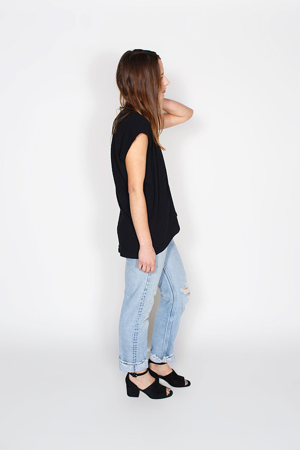 Sale! Black Everyday Top, Double Gauze
