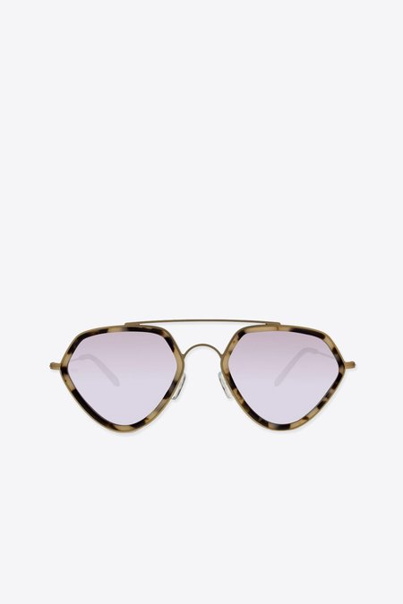 Smoke x Mirrors Geo II Sunglasses - Bright Tortoise/Matte Gold